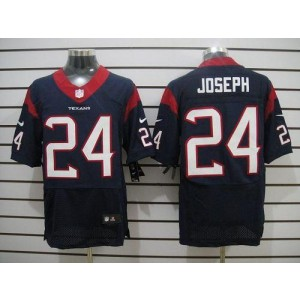 Nike Houston Texans No.24 Johnathan Joseph Navy Blue Elite Stitched Football Jersey