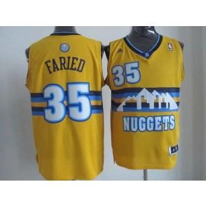 NBA Nuggets 35 Kenneth Faried Yellow Men Jersey
