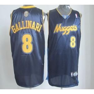 NBA Nuggets 8 Danilo Gallinari Dark Blue Revolution 30 Men Jersey