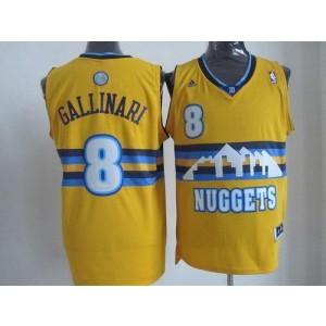 NBA Nuggets 8 Danilo Gallinari Yellow Men Jersey