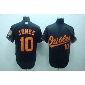 MLB Orioles 10 Adam Jones Black Men Jersey