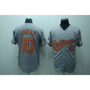 MLB Orioles 10 Adam Jones Grey Men Jersey
