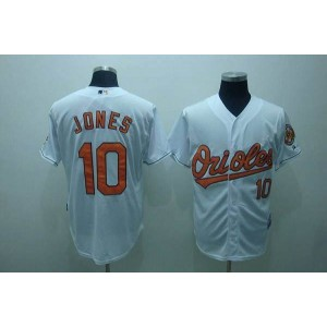 MLB Orioles 10 Adam Jones White Men Jersey