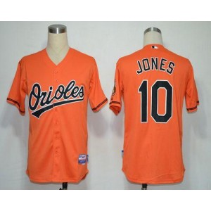MLB Orioles 10 Adam Jones Orange Cool Base Men Jersey