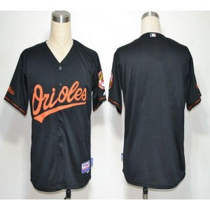 MLB Orioles Blank Black Cool Base Men Jersey