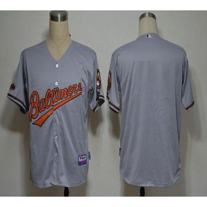 MLB Orioles Blank Grey Cool Base Men Jersey
