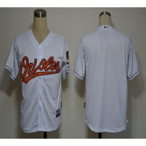 MLB Orioles Blank White Cool Base Men Jersey