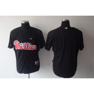 MLB Phillies Blank Black Men Jersey