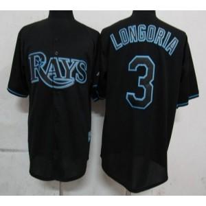 MLB Rays 3 Evan Longoria Black Fashion Men Jersey