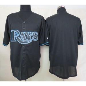 MLB Rays Blank Black Fashion Men Jersey