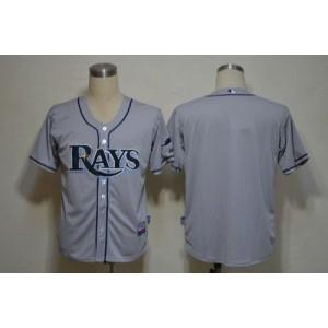 MLB Rays Blank Grey Cool Base Men Jersey