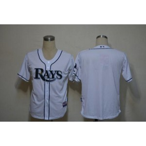 MLB Rays Blank White Cool Base Men Jersey