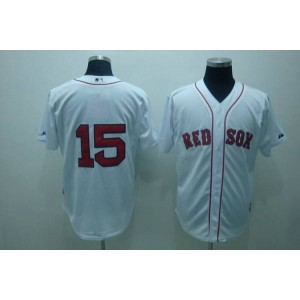 MLB Red Sox 15 Dustin Pedroia White Men Jersey