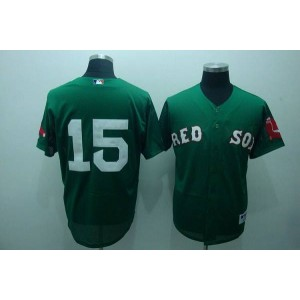 MLB Red Sox 15 Dustin Pedroia Green Men Jersey