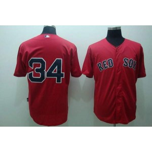 MLB Red Sox 34 David Ortiz Red Men Jersey