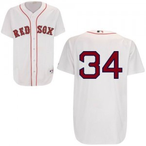 MLB Red Sox 34 David Ortiz White Men Jersey