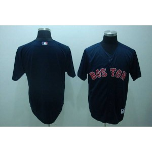 MLB Red Sox Blank Dark Blue Men Jersey