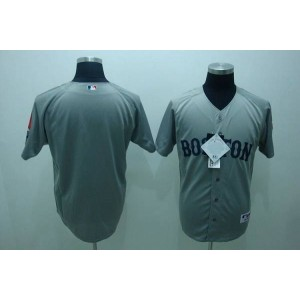 MLB Red Sox Blank Grey Men Jersey