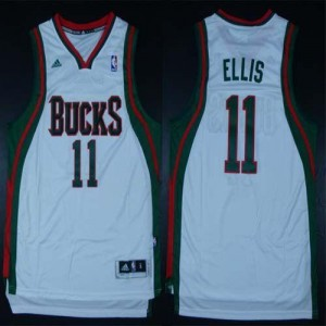 NBA Milwaukee Bucks 11 Monta Ellis White Revolution 30 Swingman Men Jersey