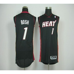 NBA Heat 1 Chris Bosh Black Revolution 30 Men Jersey