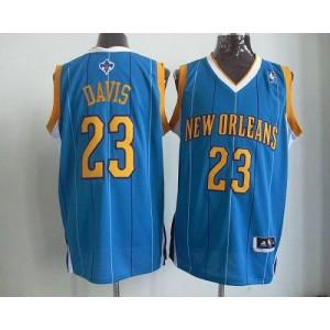 NBA Hornets 23 Anthony Davis Baby Blue Revolution 30 Men Jersey