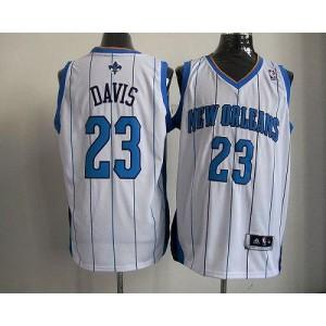 NBA Hornets 23 Anthony Davis White Revolution 30 Men Jersey