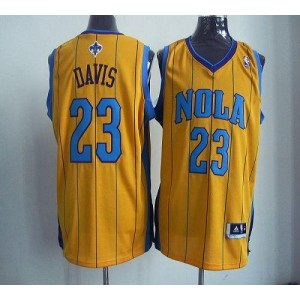NBA Hornets 23 Anthony Davis Yellow Revolution 30 Men Jersey