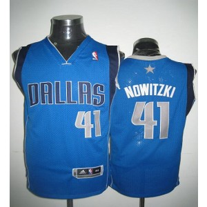 NBA Mavericks 41 Dirk Nowitzki Blue Revolution 30 Men Jersey