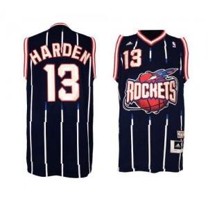 NBA Rockets 13 James Harden Navy Hardwood Classic Men Jersey