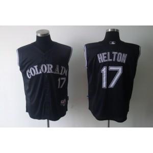 MLB Rockies 17 Todd Helton Black Vest Style Men Jersey