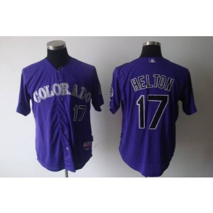 MLB Rockies 17 Todd Helton Purple Cool Base Men Jersey