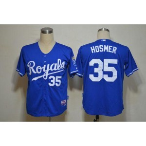 MLB Royals 35 Eric Hosmer Light Blue Cool Base Men Jersey