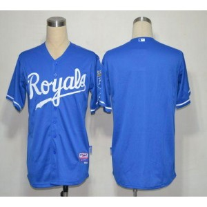 MLB Royals Blank Light Blue Cool Base Men Jersey