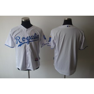 MLB Royals Blank White Cool Base Men Jersey