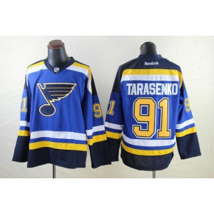 NHL Blues 91 Tarasenko Blue Black Reebok Men Jersey