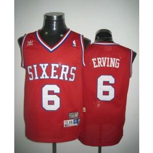 NBA 76ers 6 Julius Erving Throwback Red Men Jersey