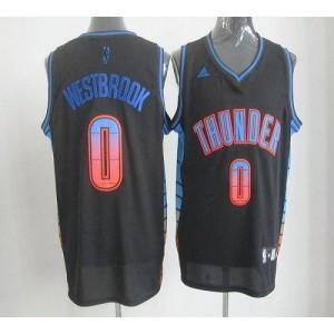 NBA Thunder 0 Russell Westbrook Black Vibe Men Jersey