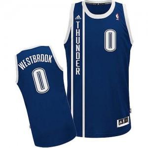NBA Thunder 0 Russell Westbrook Blue Men Jersey