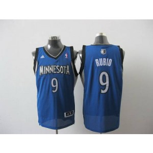 NBA Timberwolves 9 Ricky Rubio Blue Revolution 30 Men Jersey