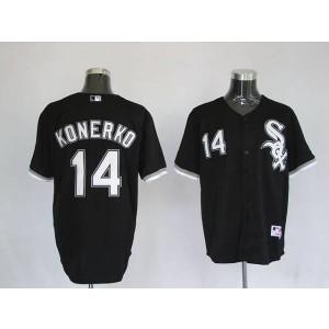 MLB White Sox 14 Paul Konerko Black Men Jersey