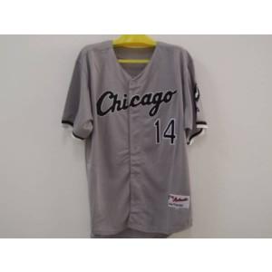 MLB White Sox 14 Paul Konerko Grey Men Jersey