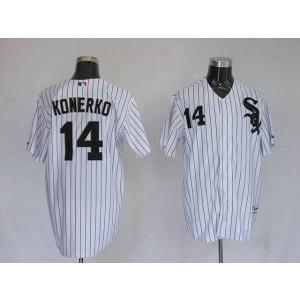 MLB White Sox 14 Paul Konerko White Men Jersey