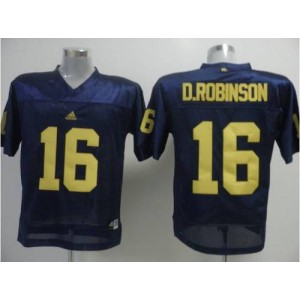 NCAA Michigan Wolverines 16 D.Robinson Blue Men Jersey
