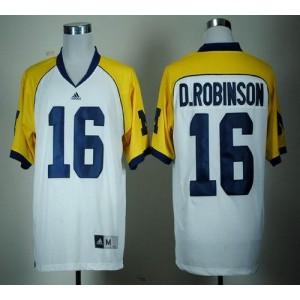 NCAA Michigan Wolverines 16 Denard Robinson White Cowboys Classic Men Jersey