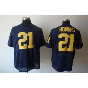 NCAA Michigan Wolverines 21 Desmond Howard Blue Men Jersey