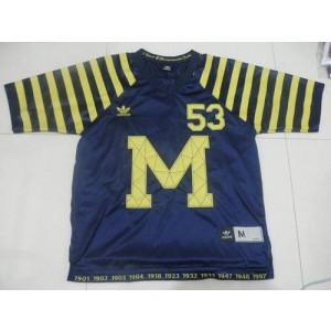 NCAA Michigan Wolverines 53 Michigan Blue Under The Lights Men Jersey